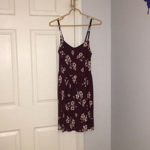 Flowy, maroon dress